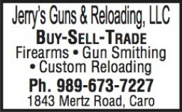 guns for sale, ammunition reloading, caro michigan, buy sell trade firearms